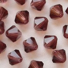 6mm Preciosa Crystal Bicone Light Burgundy - 72